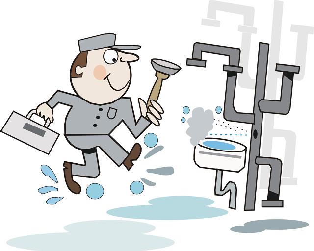 Burst pipes cartoon by Click49.